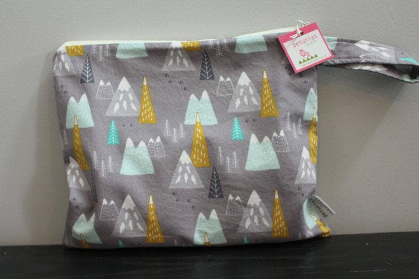 Wet Bag Wetbag Diaper ICKY Proof Grey Mountains Gym Swim Cloth Zipper Gift Newborn Baby Child Kids Summer Beach