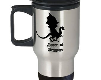 Lover of Dragons Stainless Steel Insulated Travel Mug