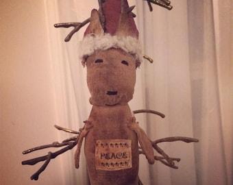 CustomerAppreciationSale Primitive Christmas Reindeer Ornie