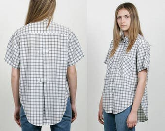 SALE - 80s Check Plaid Shirt