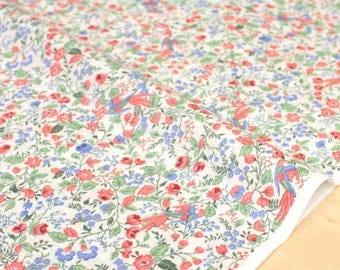Japanese Fabric single gauze - tori to hana - pink, blue, green - 50cm