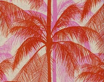 Cotton + Steel Poolside canvas - palms - pink - 50cm - PRE-ORDER