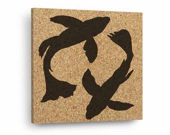 KOI FISH Mix & Match Cork Decor Art Tiles Or Kitchen Trivet - Wall DéCork