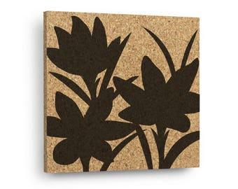 CROCUS FLOWER Mix & Match Floral Cork Decor Art Tiles Or Kitchen Trivet - Wall DéCork