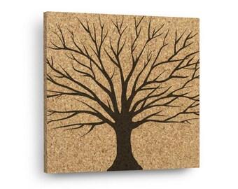 FALL TREE Mix & Match Floral Cork Decor Art Tiles Or Kitchen Trivet - Wall DéCork