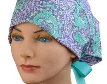 Womens Surgical Hats - Small - Ribbon - Lovely Lavender