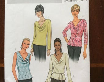 Butterick 3968 Cowlneck Top Sewing Pattern