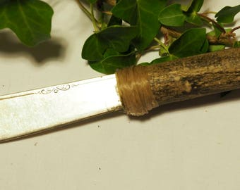 Athame with English Holly handle and Up-cycled Blade - Ritual Knife - for Pagans, Witches and Wiccans.