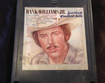 Hank Williams Jr Fourtenn Greatest Hits -  8 Track Tape Free Shipping
