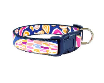 SALE ~ Dog Collar Made from Lilly Pulitzer 2017 Can't Resist Fabric ~ LARGE Only
