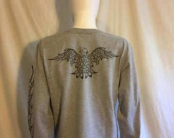 Closing Shop 40%off SALE 90's Eagle Tattoo long sleeve t shirt