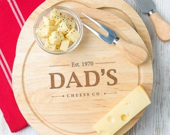 New Dad Personalized Date Cheese Board New Dad Fathers day gift Father's day gift new dad Cheese board and knife set - NOW 50% OFF!