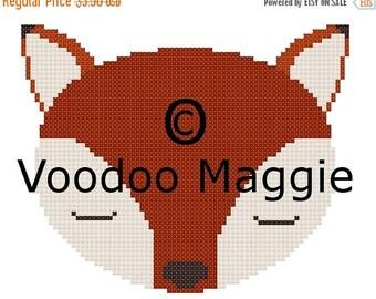 Summer Sale Woodland Fox Cross stitch pattern