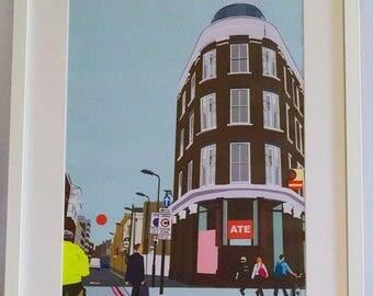 Framed 'Ate' Digital Print