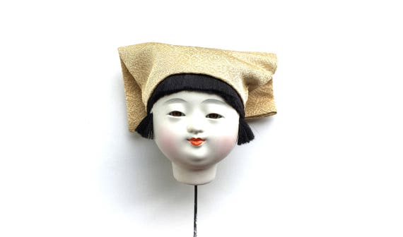 Japanese Doll Head Ichimatsu Doll Body Part D15-17 Kawaii Girl Head