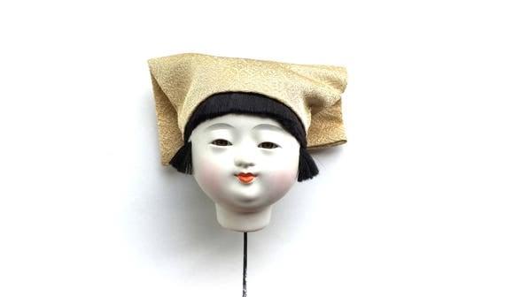 Japanese Doll Head Ichimatsu Doll Body Part D15-17 Kawaii Girl Head