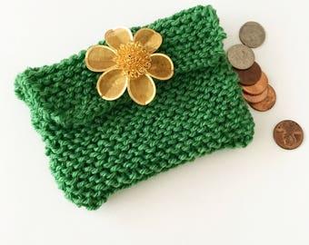 My first knitting kit - DIY change purse - knitting kit - FREE SHIPPING