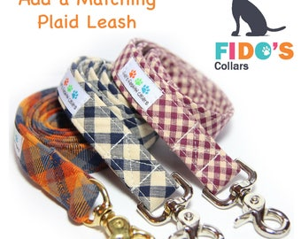 Plaid Dog Leash, Tartan Dog Leash, Any Plaid Pattern