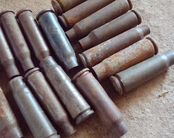 Empty Rusted Bullet Shell Casings  Jewelry, Art or Sculpture Supplies