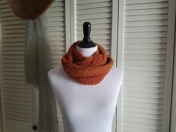Orange Sunsets Cowl Infinity Scarf *reserved*