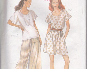 Simplicity 9007 Misses Split Skirt Pullover Top Easy Sewing Pattern Sizes 8-18 Out of Print UNCUT