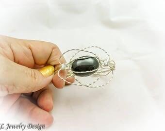 Silver Solar System Cuff Bracelet