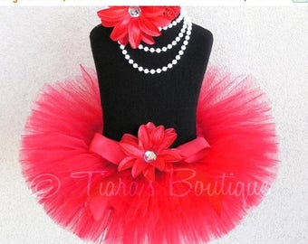 SUMMER SALE 20% OFF True Love - Custom Sewn Red Tutu - Up to 8'' Length - sizes Newborn to 5T - Perfect for Christmas &Valentine's Day