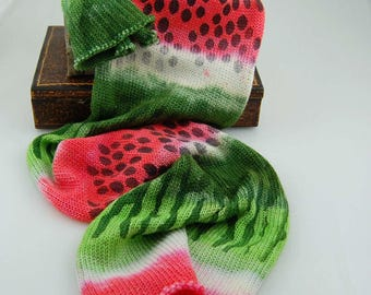 Sparkle sock Blank - Watermelon