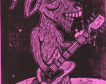 Goatar Hero Woodcut