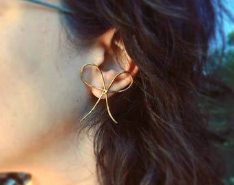 Oversized 14k Goldfilled Bow Studs