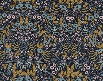 Menagerie Tapestry in Midnight Metallic by Rifle Paper Co for Cotton+Steel