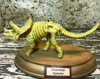 1:12 1/12 Dollhouse Miniature Dinosaur Museum Display Triceratops Skeleton
