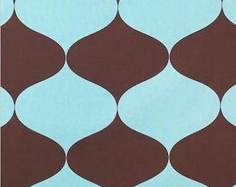 SALE - Extravagance Brown / Blue - IKEA Tillfalle Cotton Fabric
