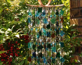 Unique Copper Wind Chimes - Suncatcher - OOAK Gift For Her, Anniversary, Birthday, Wedding, Housewarming, Siren