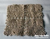 Antique Crocheted Square Doily