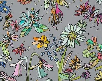 Floral Print by Jennifer Mercede 'Jardin Floral' 48x12
