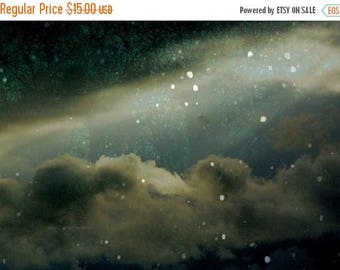 50% OFF SALE Galaxy Print Night Sky Photography Surreal Dark Celestial Landscape Abstract 5x7 inch Fine Art Photography At Tara in This Fate