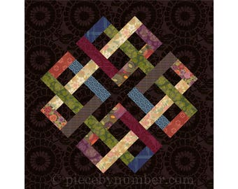 Zentricity II - paper pieced quilt block pattern, celtic knot quilt pattern, medallion, foundation piecing