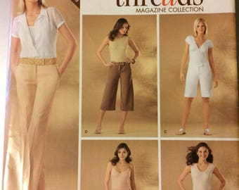 Simplicity  4135 Misses' Pants Shorts Gauchos Sewing Pattern  Size 6-14 Waist 23-28 inches Uncut  Complete