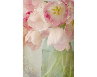 Tulip Print,  Cottage Chic Decor, Pastel Wall Art, Tulip Still Life, Tulip Art, Bedroom Decor