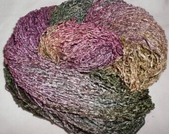 Handpainted Soft Rayon Chenille Yarn  SECRET  -  325 yds