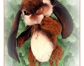 Artist Bunny PDF, DIY Rabbit Pattern, Teddy Bear Pattern, Stuffed Animal Tutorial, Rabbit Plushie, DIY Artist Animal, Woodland