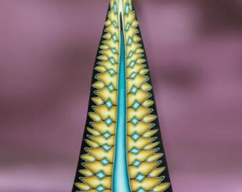 Tall, Thin Polymer Clay Triangle Cane -'Awaken' (28cc)