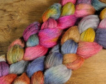 Corriedale Wool Top - 'Faded Bouquet'