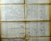 Pattern for pyrography, embossing - The Goose Girl - Beginning of the 20th century -