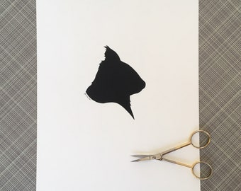 Squirrel Silhouette Papercutting