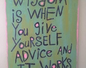 Word Art Painting - Wisdom