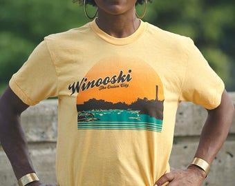 Winooski Vermont shirt screenprinted tee vintage inspired USA made