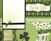Lucky You - 12 x 12 Premade Scrapbook Page