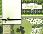 Lucky You - 12x12 Premade Scrapbook Page